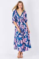 NEW Erin Louise Womens Maxi Dresses Orchid Tint Batwing Dress Orchid