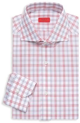Isaia Tattersall Check Dress Shirt