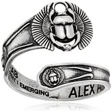 Alex and Ani Spoon Scarab Sterling Silver Sterling Silver Ring, Size 7-9