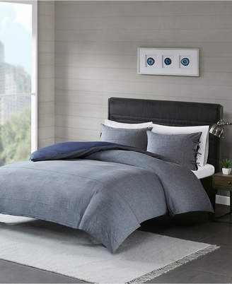 Madison Home USA Raven King/California King 3 Piece Cotton Yarn Dye Duvet Cover Set Bedding