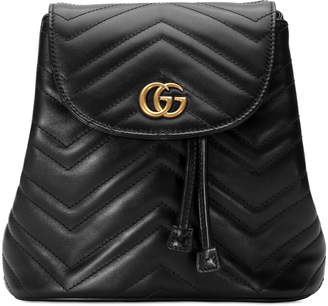 Gucci GG Marmont Chevron-Quilted Leather Backpack