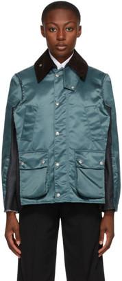 Maison Margiela Blue Satin Panel Jacket