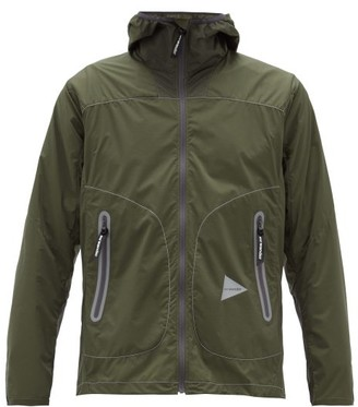 And Wander - Zip-through Hooded Ripstop Jacket - Khaki
