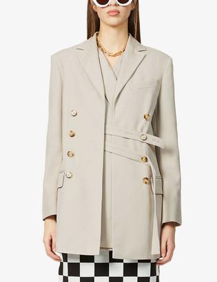 Rokh Wrap-over stretch-woven blazer