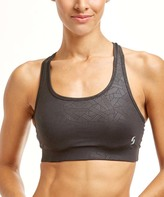 Soffe Black Linear & Black Reversible Sports Bra