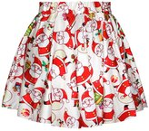 VintageRose VinatgeRose Sexy Retro Vintage Christmas Print Skater Skirt