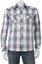 Rock & Republic Big & Tall Classic-Fit Plaid Roll-Tab Button-Down Shirt