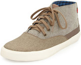 Ben Sherman Percy Hi Colorblock Canvas Sneaker, Chestnut