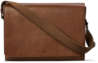 Shinola Men's Guardian Leather Laptop Messenger Bag