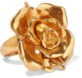 Oscar de la Renta Rosette Gold-tone Ring