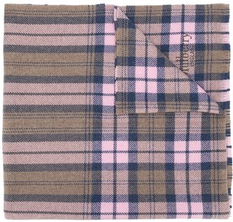 Mulberry Oversized Checked Scarf
