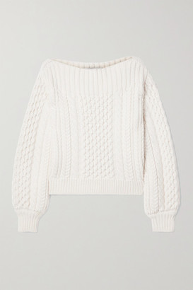 Proenza Schouler White Label Cable-knit Wool-blend Sweater - Ivory