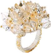 Kim Seybert Gold/Silver Crystal Dome Napkin Ring