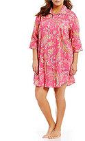 Lauren Ralph Lauren Plus Paisley Sateen Sleepshirt