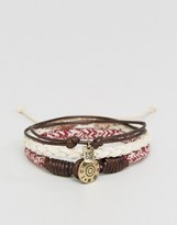 ICON BRAND Woven Bracelets In 3 Pack