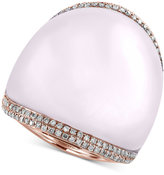 Effy Serenity by Rose Quartz (41-9/10 ct. t.w.) and Diamond (3/8 ct. t.w.) Statement Ring in 14k Rose Gold