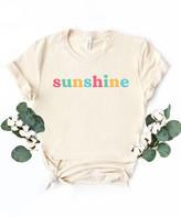 Simply Sage Market Women's Tee Shirts Cream - Cream & Multi-Color 'Sunshine' Crewneck Tee - Women