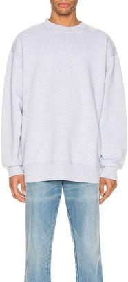 Acne Studios Pink Label Sweatshirt in Pale Grey Melange | FWRD