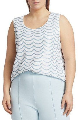 Joan Vass, Plus Size Sequin Wave Tank
