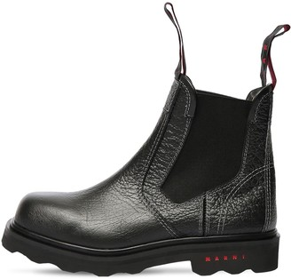 Marni 30mm Leather Beatle Boots