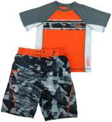 Gerry Big Boys' 2 Piece Rashguard Trunks Set