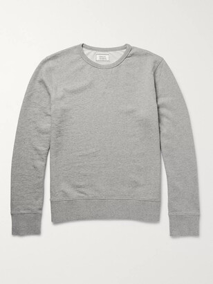 Officine Generale Loopback Cotton-Jersey Sweatshirt - Men - Gray
