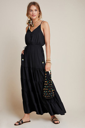 DOLAN Collection Tiered Maxi Dress By Dolan Left Coast in Black Size S