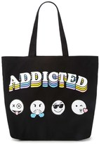 Forever 21 FOREVER 21+ Addicted Emoji Graphic Eco Tote