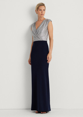 Ralph Lauren Two-Tone Jersey Gown