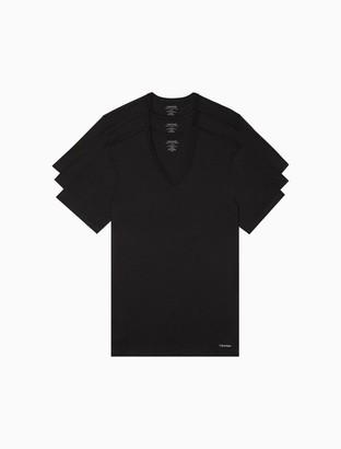 Calvin Klein Cotton Classic Slim Fit 3-Pack V-Neck T-Shirt