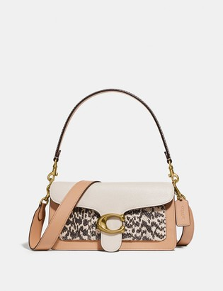 Coach Tabby Shoulder Bag 26 In Colorblock With Snakeskin Detail