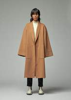 Totokaelo Archive Women's Diara Robe Coat in Camel Size Large Wool/Polyester