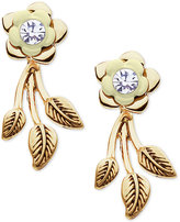 lonna & lilly Gold-Tone Flower Stud and Vine Earring Jackets