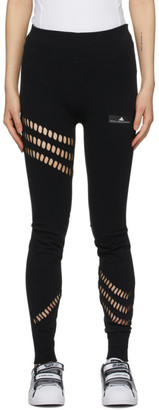 adidas by Stella McCartney Black Warp Knit Leggings