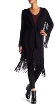 Haute Hippie The Engram Faux Suede Fringe Cardigan