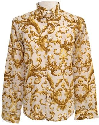 Dries Van Noten Gold Cotton Shirts