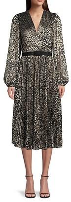 Rebecca Vallance Vienna Leopard Print Midi Dress