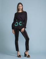 Cynthia Rowley Embroidered Belted Top