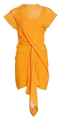 Nina Ricci Women's Draped Cotton & Silk Dress