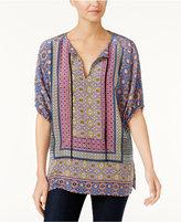 Trina Turk Silk Printed Peasant Tunic