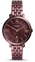 Fossil Jacqueline Three-Hand Date Wine Stainless Steel Watch
