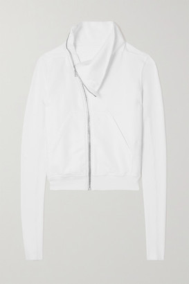 Rick Owens Felpa Zip-detailed Cotton-jersey Sweatshirt - White