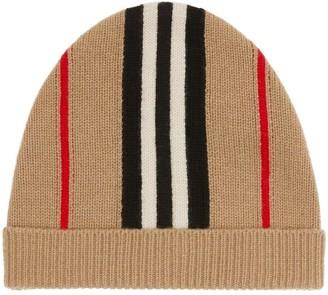 Burberry Icon Stripe beanie hat