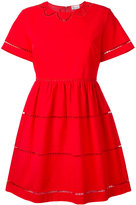 RED Valentino cut-out trim dress - women - Cotton/Polyester - 44