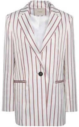 Maje Vimaly Striped Cloque Jacket