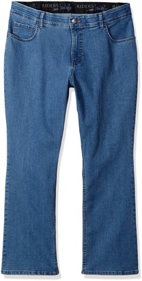 Riders by Lee Indigo Womens Plus-Size Stretch Fit No Gap Boot Cut Jean Jeans - Blue -