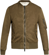 Valentino Rockstud Untitled #15 bomber jacket