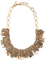 Oscar de la Renta Pearl-Detailed Branch Bib Necklace
