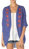 Miss Me Embroidered 3/4 Sleeve Kimono Cardigan