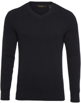 Oxford Peter V-Neck Knit Navy X